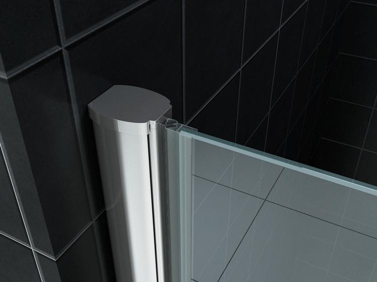 Wiesbaden nisdeur met profiel 1000x2000 8mm NANO glas