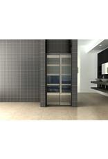 Wiesbaden Skyline schuifbare nisdeur 1000x2000 mat-zwart 8mm NANO