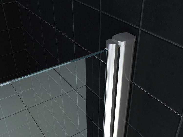 Wiesbaden nisdeur met profiel 600x2000 8mm NANO glas