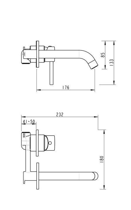 Sanilux Inbouwkraan Gun Metal Geborsteld