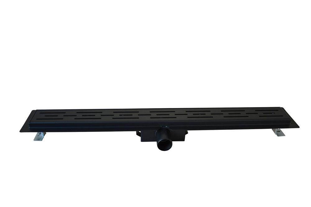 Wiesbaden Wiesbaden douchegoot met flens en rooster 100 x 7 cm mat zwart