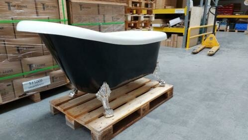 Linea Uno OP=OP Klassiek vrijstaand ligbad 160x75x72cm zwart acryl €395