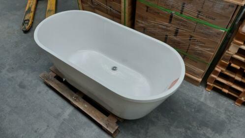 Linea Uno OP=OP  Design ligbad vrijstaand 160x70x60cm acryl €295 bad nr368