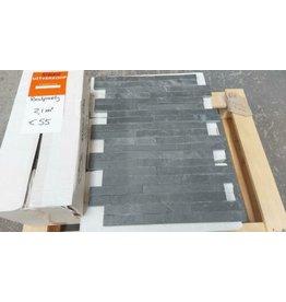 Linea Uno Restpartij steenstrips 2.1m2 voor €55 zwart antraciet 10x35