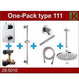 Wiesbaden one-pack inbouwthermostaatset type 111 CHR (20cm)