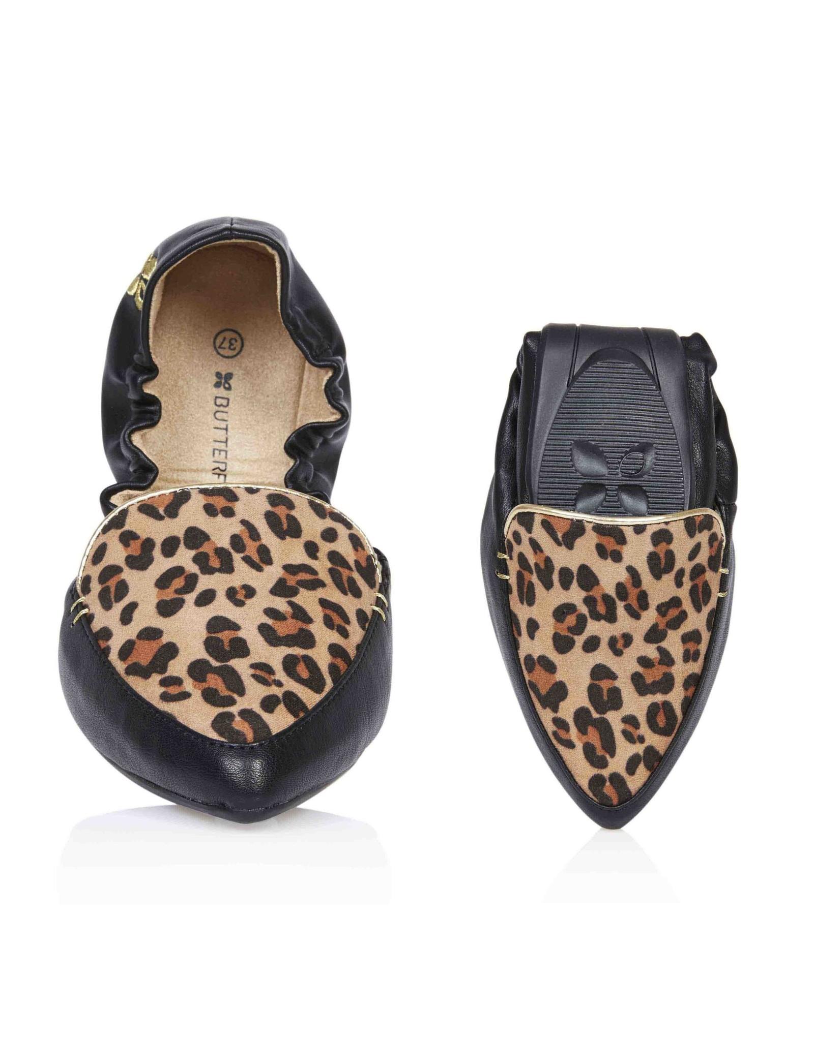 Butterfly twists Ballerina Amber tan leopard zwart