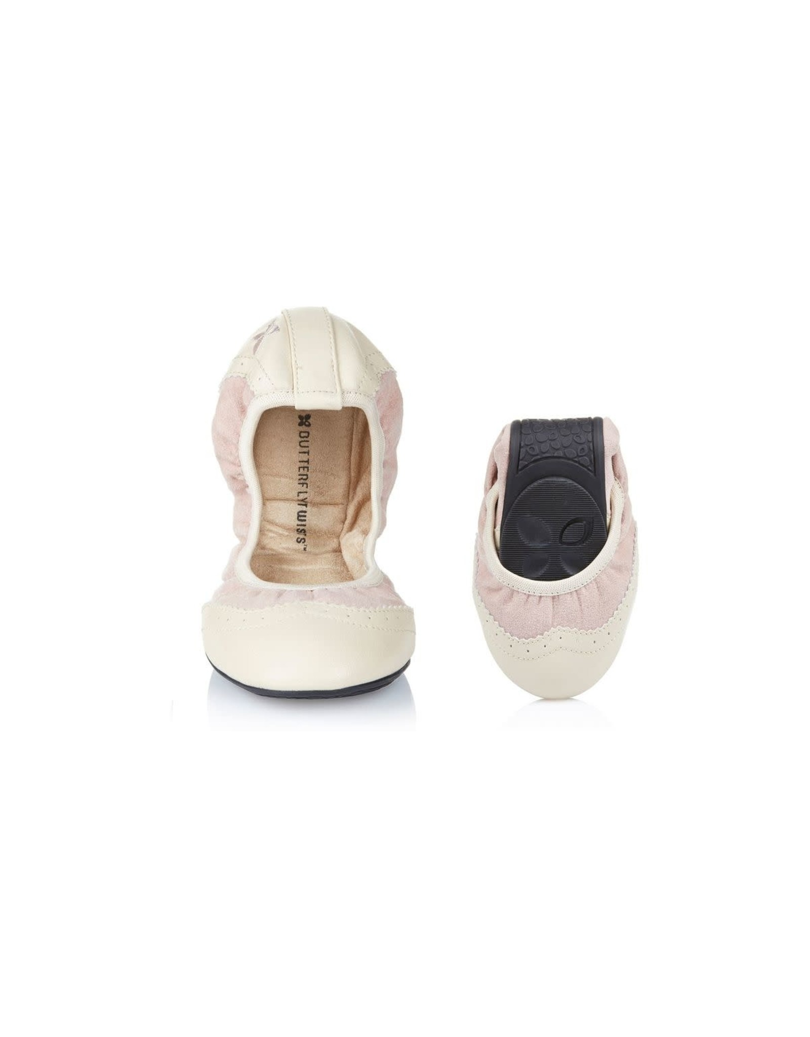 Butterfly twists Ballerina audrey dusty pink cream roze