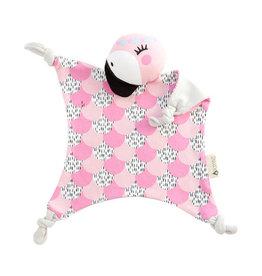 Kippins Knuffel coco flamingo organic roze