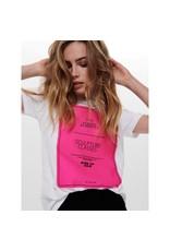 Jacqueline De Yong T-shirt Jetta wit roze