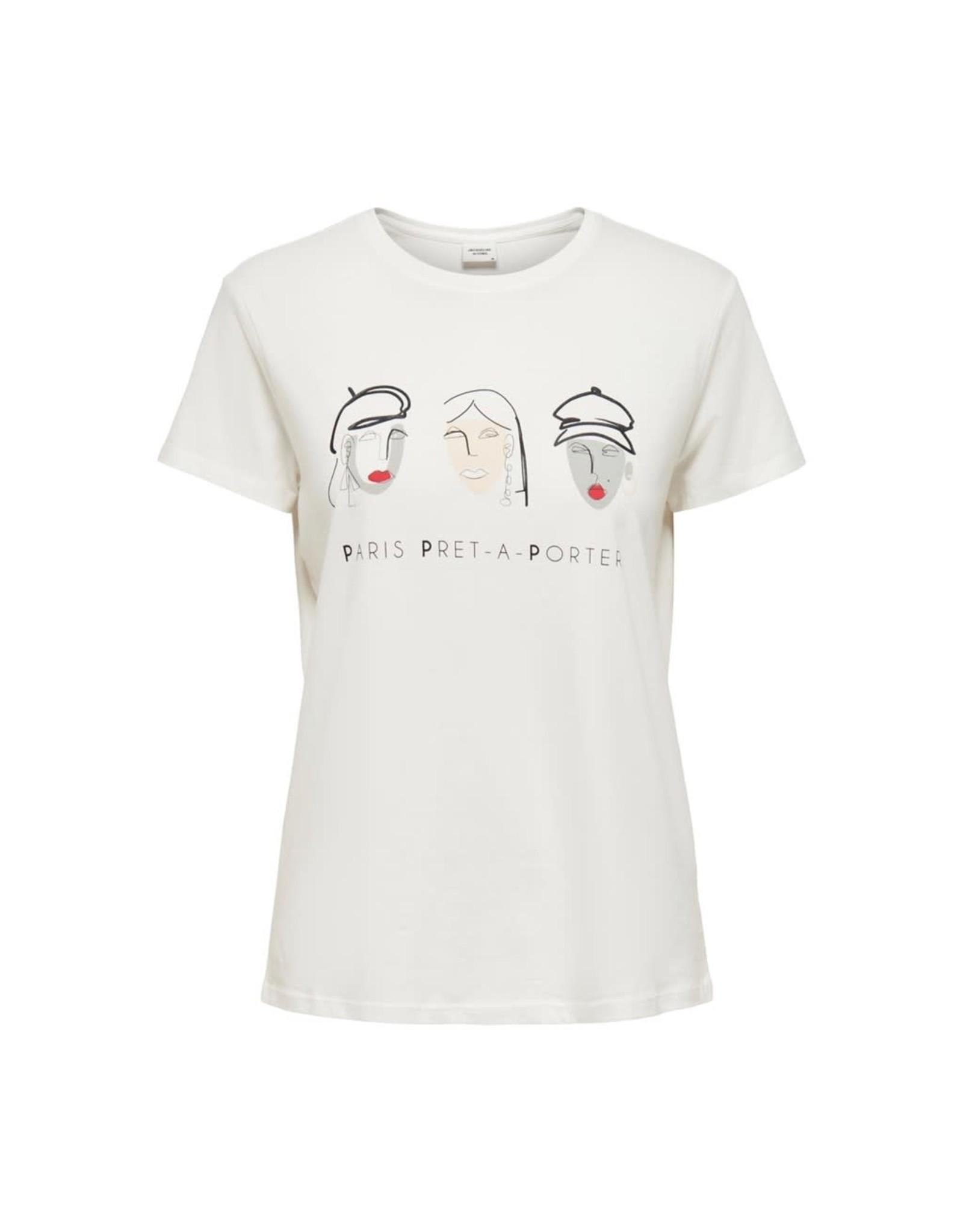 Jacqueline De Yong T-shirt oui life pret wit