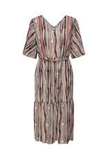 Jacqueline De Yong Jurk Solis 3/4 midi dress multi color
