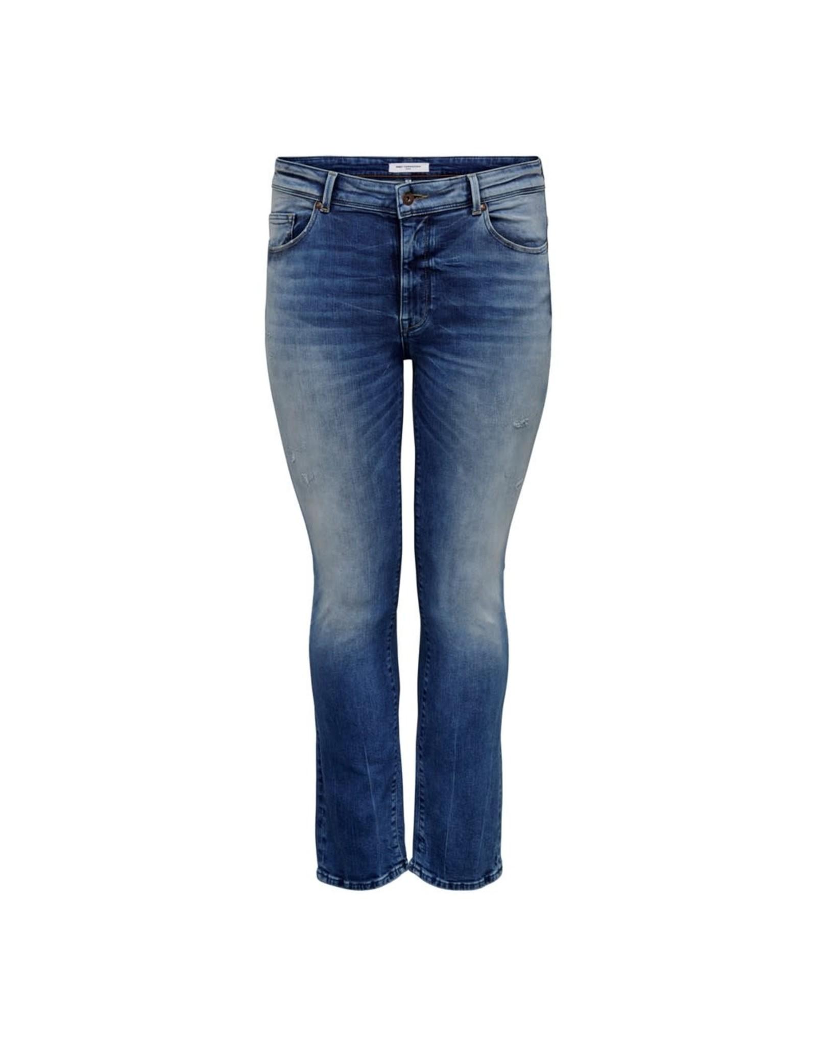Carmakoma Broek jeans pisa destroyed blauw