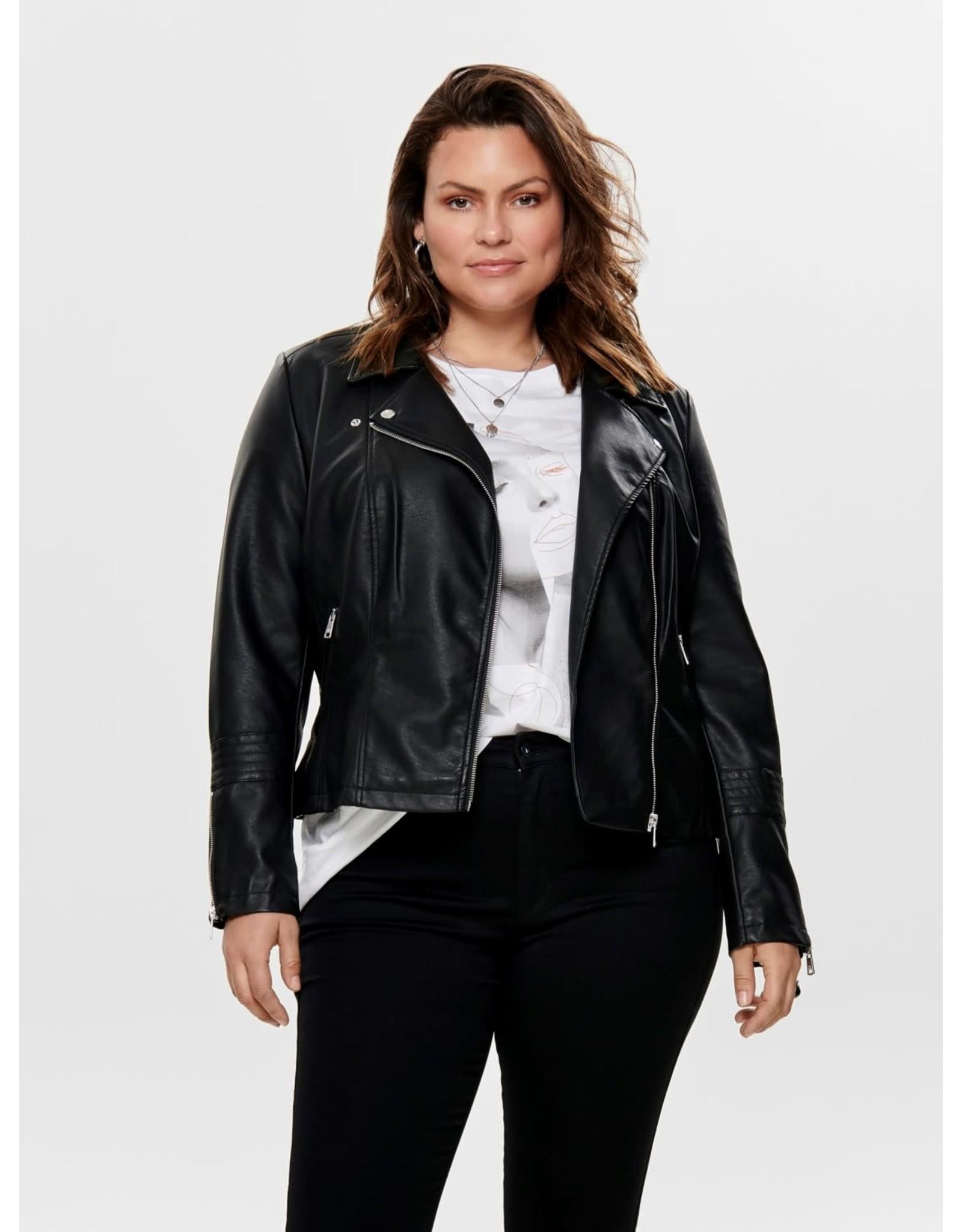 Carmakoma Jas Emmy faux leather biker zwart