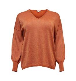 Carmakoma Pullover Skylar V-Neck oranje
