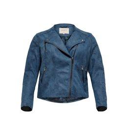 Carmakoma Jas Avana faux leather biker blauw