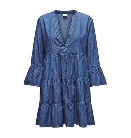 Jacqueline De Yong Jurk Saint life jeans blauw
