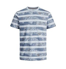 Jack & jones junior T-shirt Dustin blu. crew neck blauw