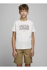 Jack & jones junior T-shirt Venicebeach crew neck wit melange