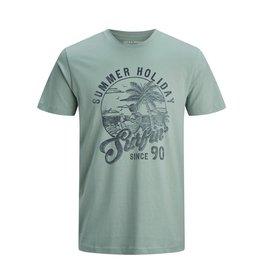 Jack & jones junior T-shirt Human crew neck groen