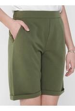 Jacqueline De Yong Lange short Catia treats fold up groen