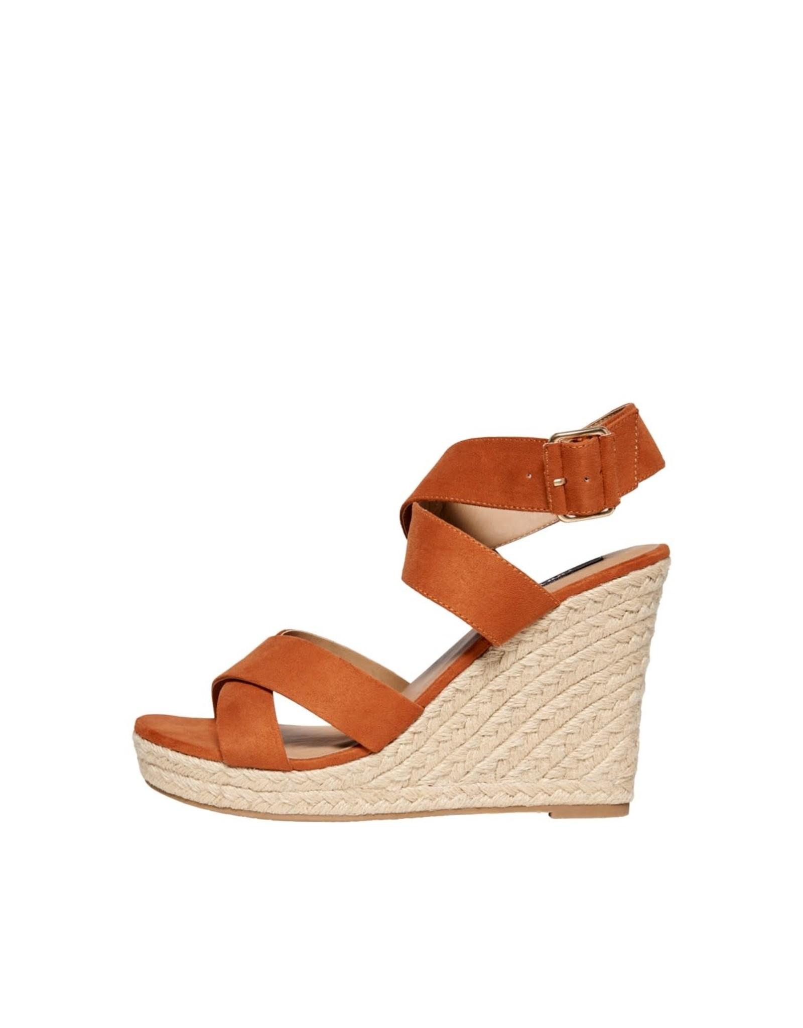 Only Sandaal Melia wrap heeled oranje