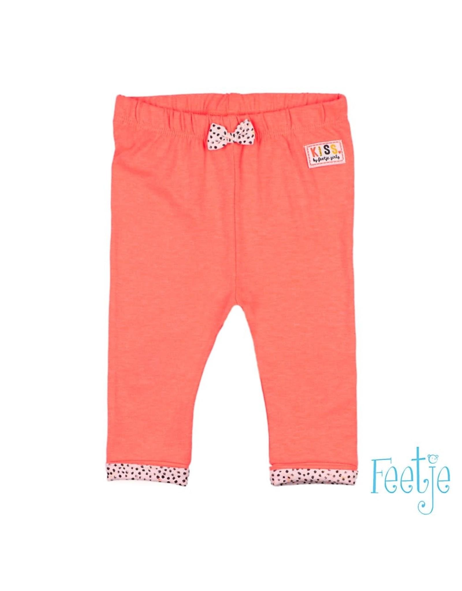 Feetje Broek legging - Kiss rood / oranje