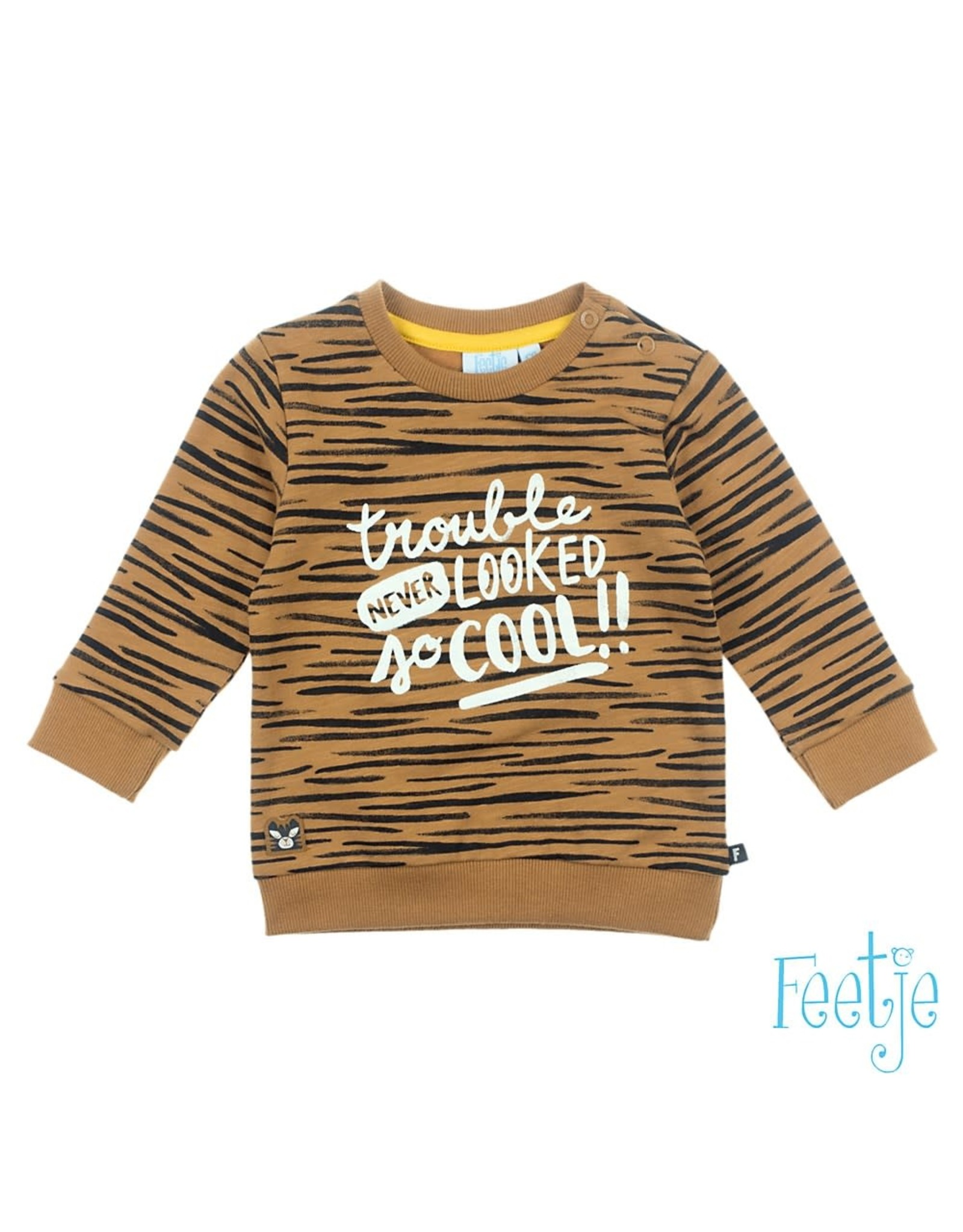 Feetje Sweater - Born To Be Wild camel / bruin