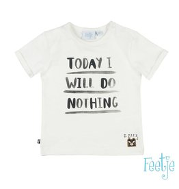 Feetje T-shirt Today I Will - Born To Be Wild ecru / wit