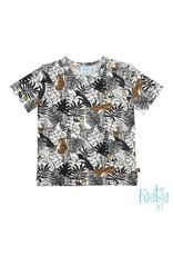 Feetje T-shirt AOP - Born To Be Wild wit / zwart / bruin