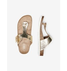 Only Slipper sandaal Mathilda goud