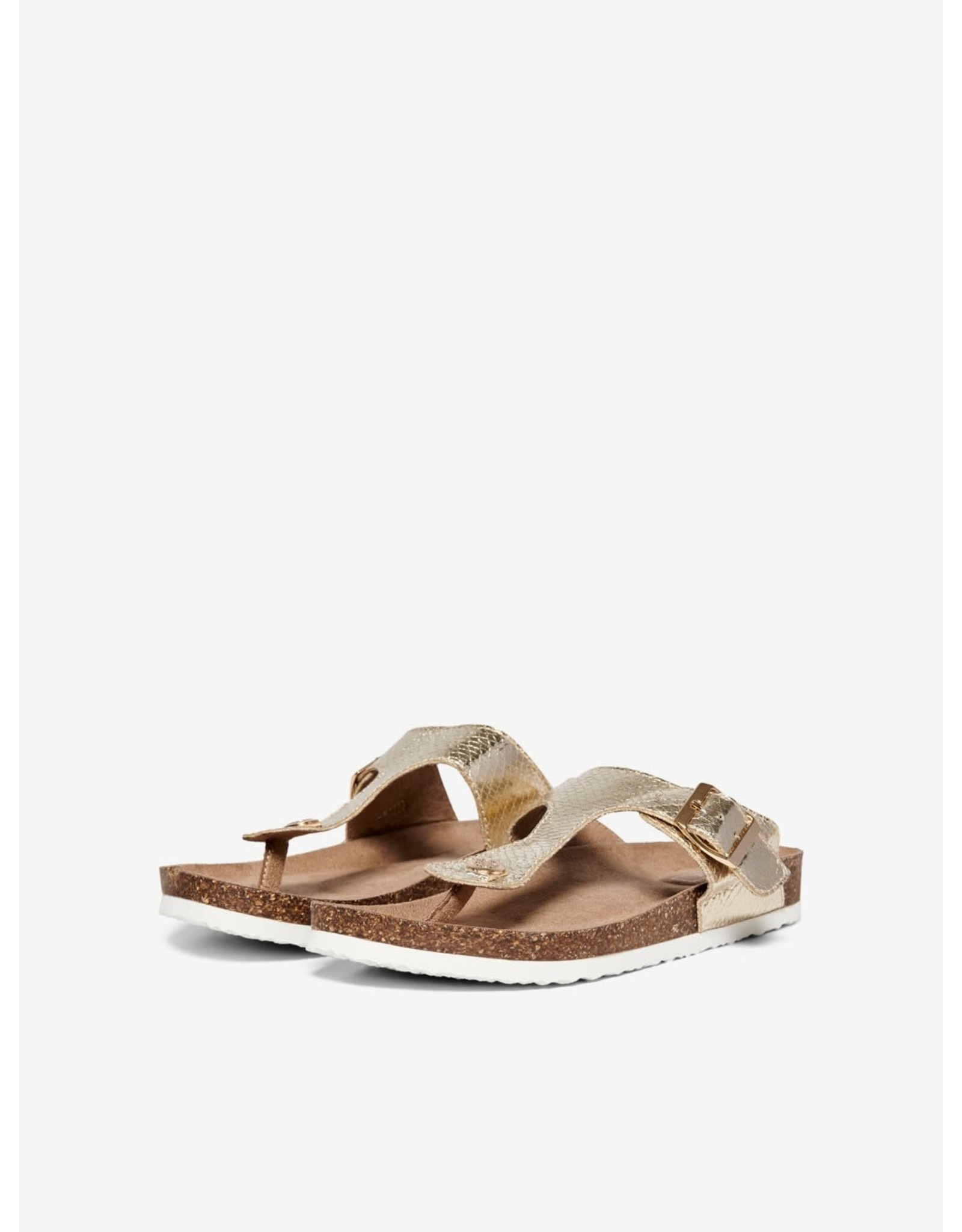 Only Slipper sandaal Mathilda goud