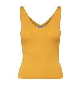 Jacqueline De Yong Top Nanna knit geel