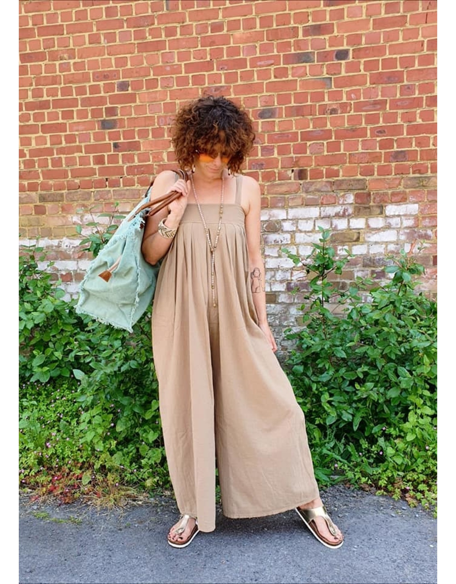 Play up Jumpsuit woven zand / bruin