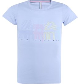 Blue effect T-shirt barcode blauw
