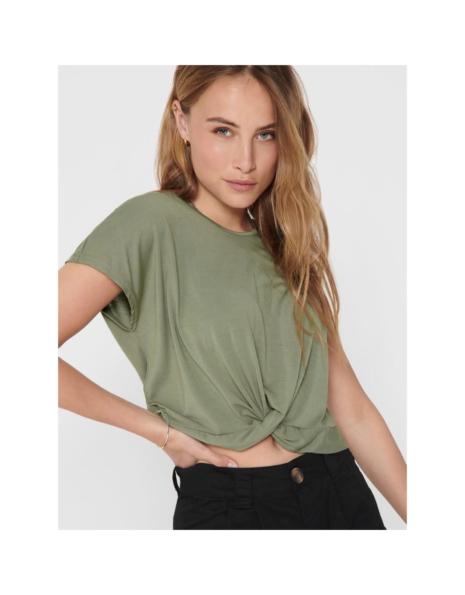 Jacqueline De Yong T-shirt Moon prunella groen