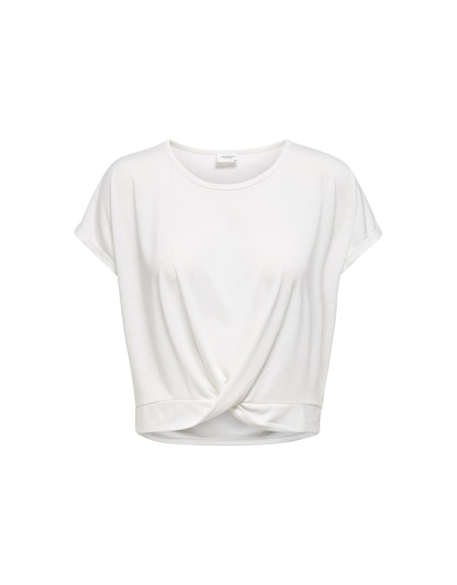 Jacqueline De Yong T-shirt Moon prunella wit