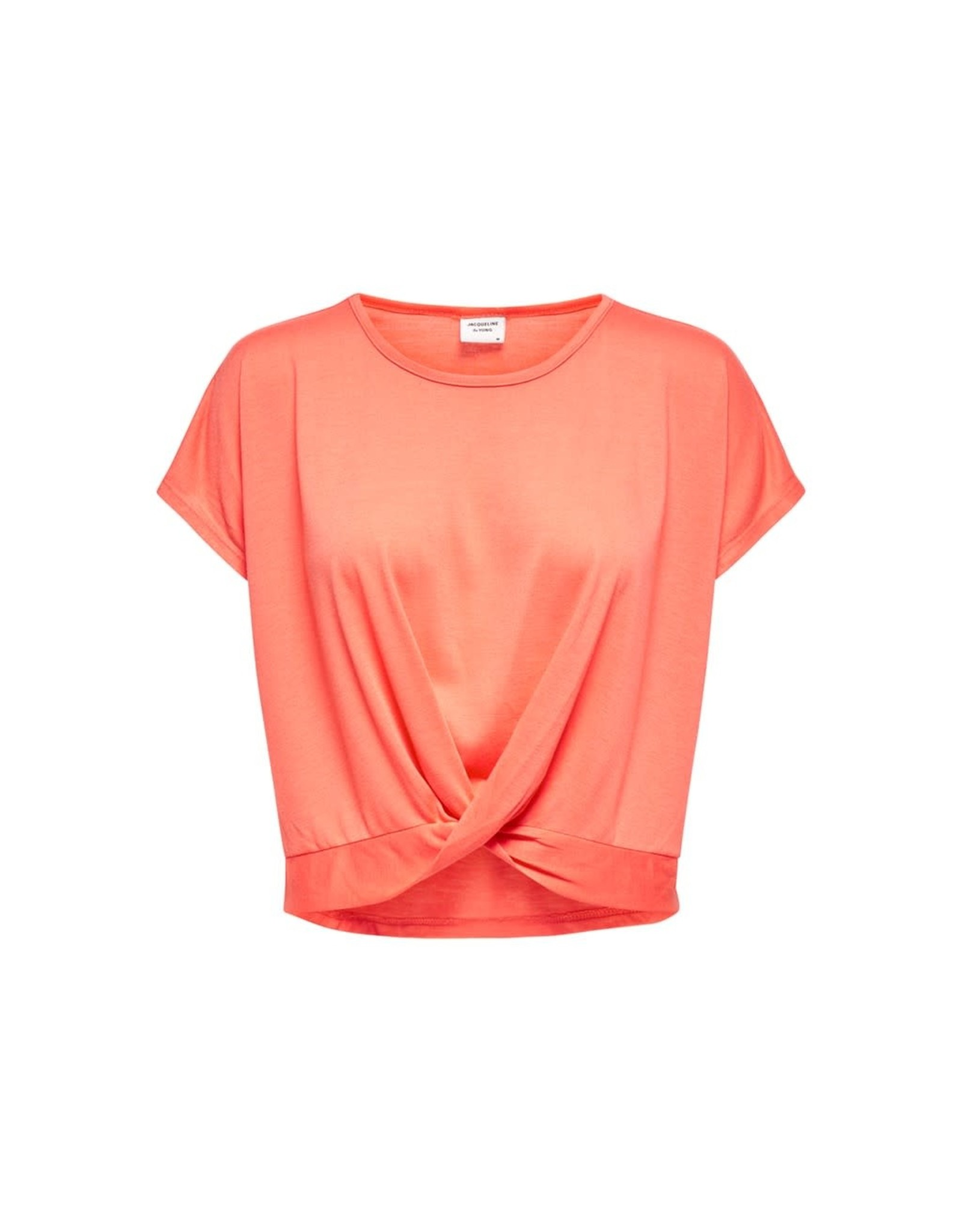 Jacqueline De Yong T-shirt Moon prunella oranje