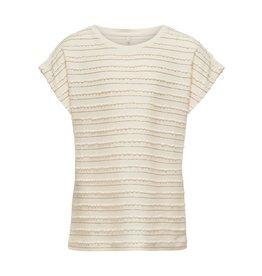 Kids Only T-shirt Millie glitter top ecru / goud
