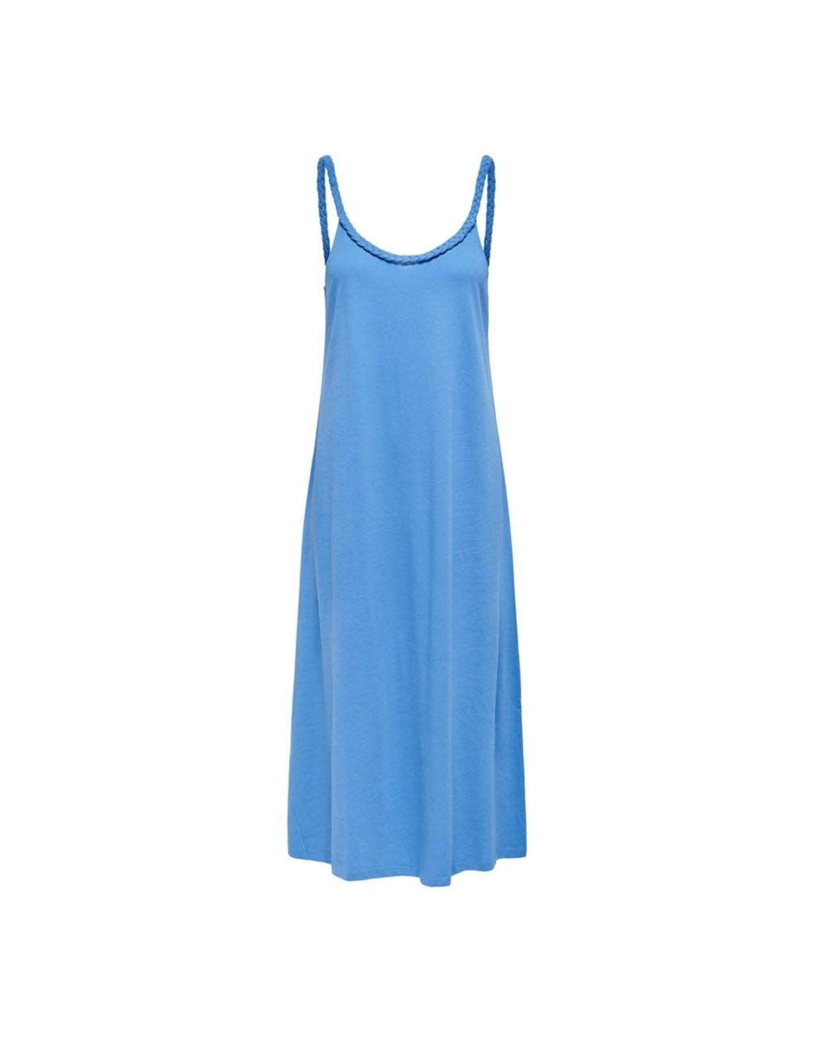 Jacqueline De Yong Jurk flet life strap blauw
