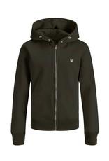 Jack & jones junior Sweater soft zip hood zwart
