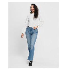 Jacqueline De Yong Jeans Flora life flared HW blauw L32