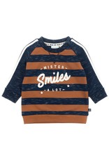 Feetje Sweater mister smiles blauw / bruin