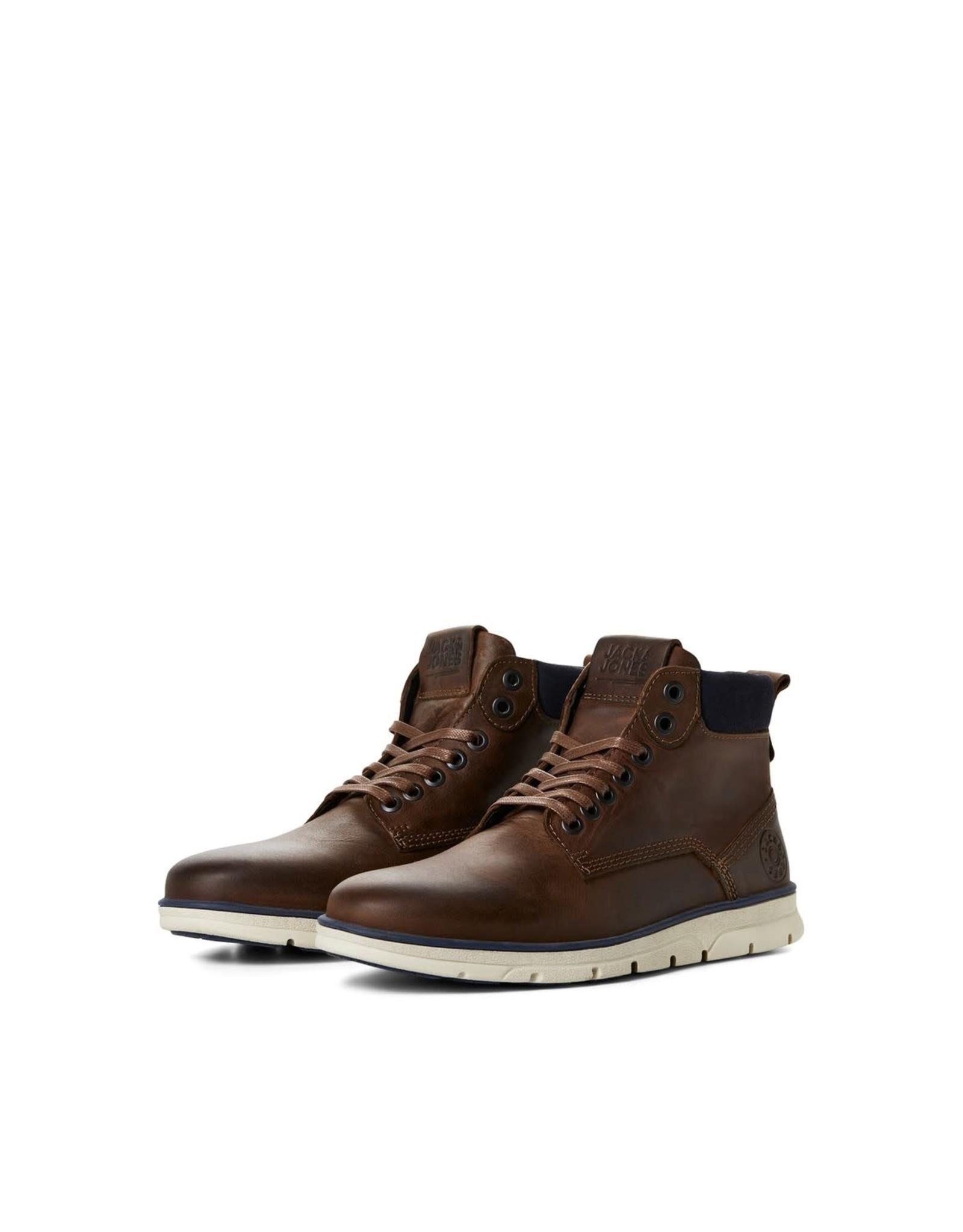 Jack & jones junior Schoenen hoog Tubar leather bruin