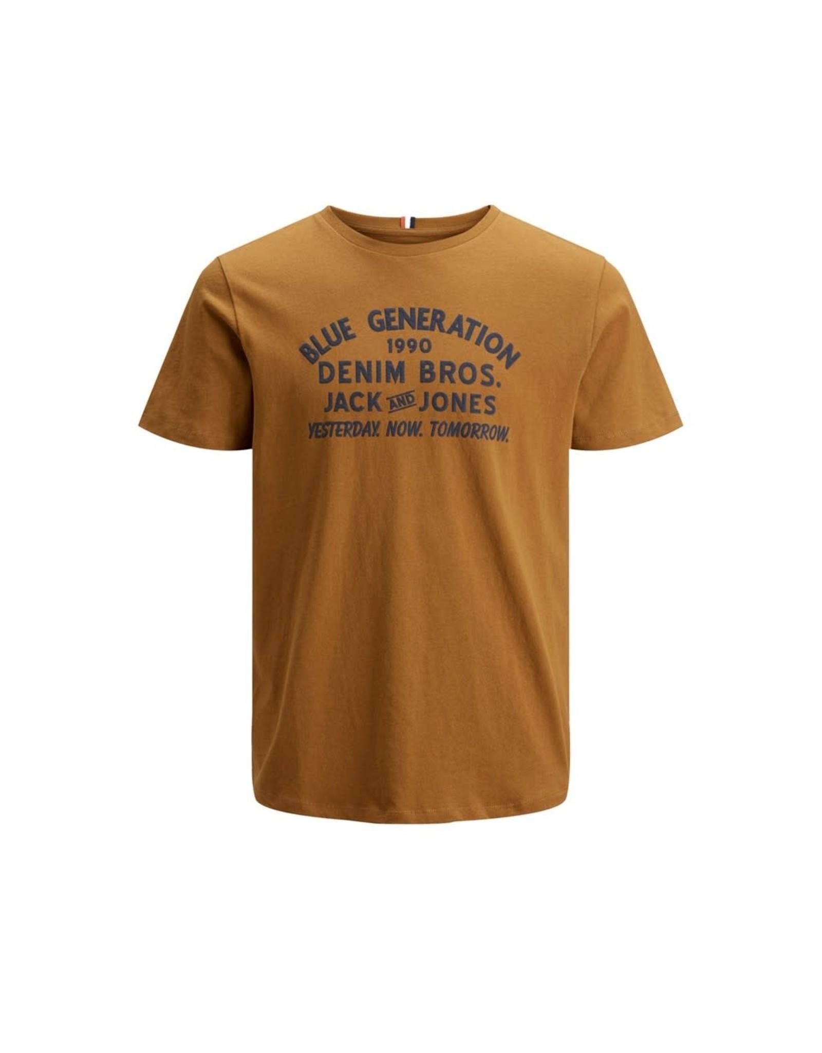 Jack & jones junior T-shirt standard crew bruin