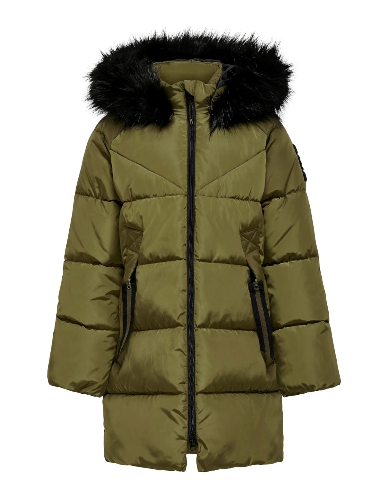 Kids Only Jas Monica long puffer groen