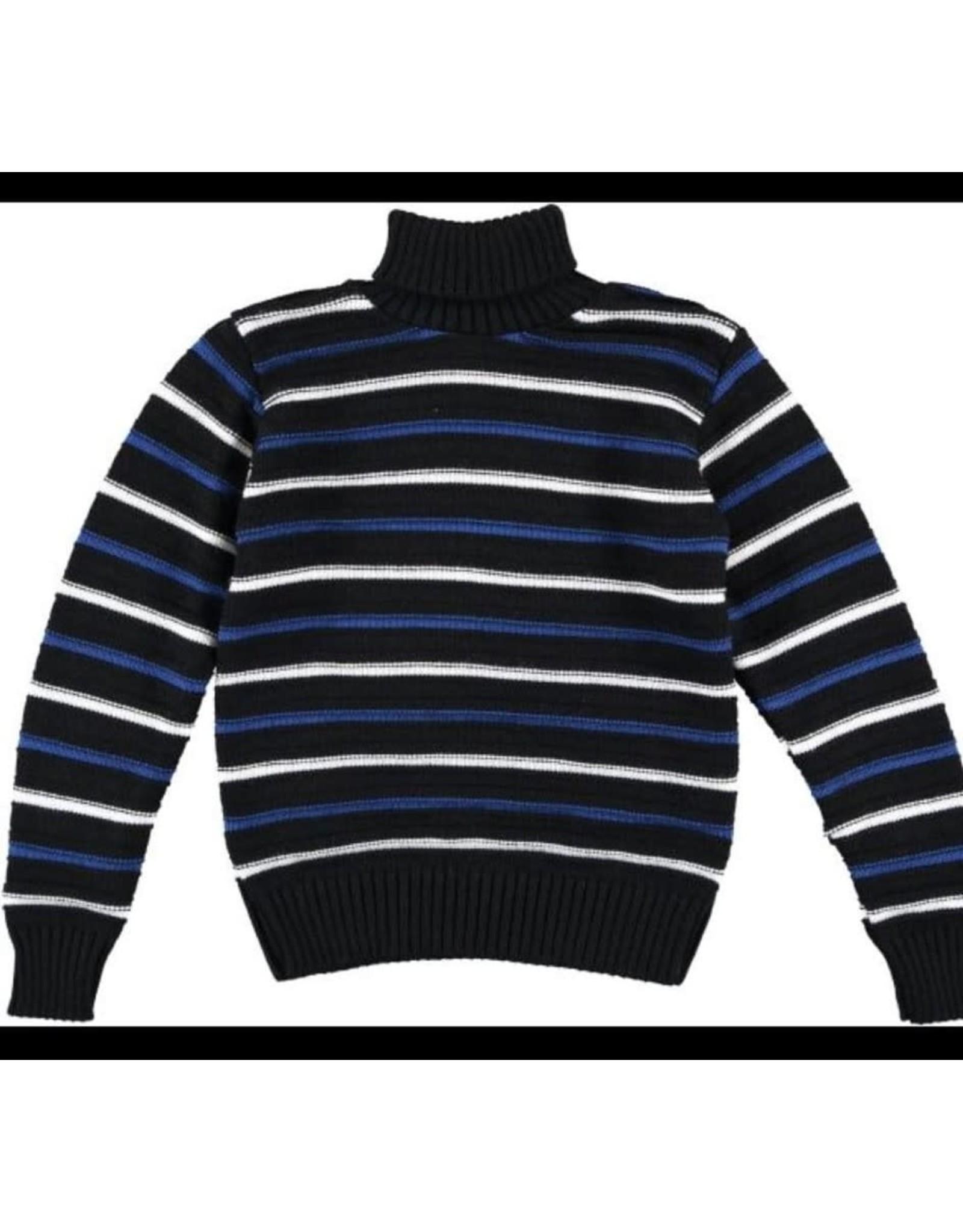 Manuell & frank Trui gebreid met strepen wit / blauw