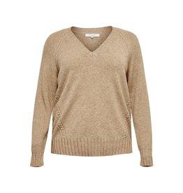 Carmakoma Pullover Sandie beige / bruin