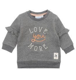 Feetje Sweater Love You - Little and Loved grijs