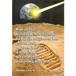 Poster: Johannes 3:16; A-4 formaat