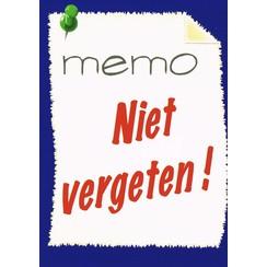 Traktaat: Memo Niet vergeten!